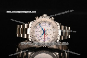Yachtmaster II Chrono Full SS White Dial - A7750 (BP)
