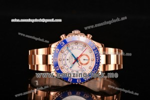 Yachtmaster II Chrono Full RG White Dial - A7750 (BP)