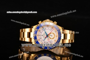Yachtmaster II Chrono Full YG White Dial - A7750 (BP)