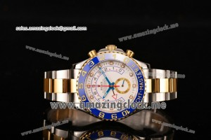 Yachtmaster II Chrono SS/YG White Dial - A7750 (BP)