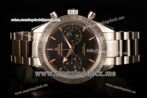 Speedmaster'57 Co-Axial Chronograph Full SS Black Dial - Clone Omega 9300 (EF)