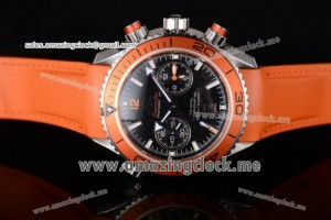 Seamaster Planet Ocean 600M Co-Axial SS Black Dial Orange Bezel - Clone 9300 (EF)