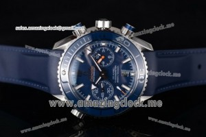 Seamaster Planet Ocean 600M Co-Axial SS Blue Dial Blue Bezel - Clone 9300 (EF)
