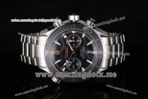 Seamaster Planet Ocean 600M Co-Axial Full SS Black Dial - Clone 9300 (EF)