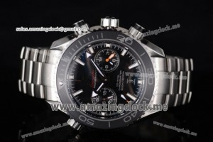Seamaster Planet Ocean 600M Co-Axial Full SS Black Dial Black Bezel - Clone 9300 (EF)