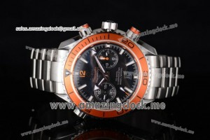 Seamaster Planet Ocean 600M Co-Axial Full SS Black Dial Orange Bezel - Clone 9300 (EF)
