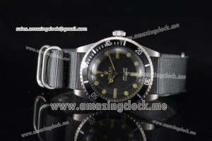 Submariner Vintage SS Black Dial Stick/Dot Markers - A2813
