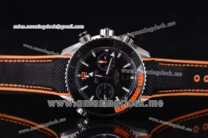 Seamaster Planet Ocean 600M Master Chronometer Chronograph SS Black Dial - Clone Omega 9900 1:1 (EF)
