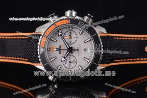 Seamaster Planet Ocean 600M Master Chronometer Chronograph SS White Dial - Clone Omega 9900 (EF)