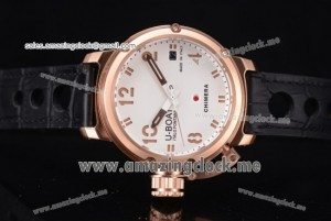 Chimera Automatic RG White Dial Black Leather - AST25