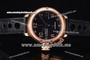 Chimera Automatic RG Black Dial Black Leather - AST25