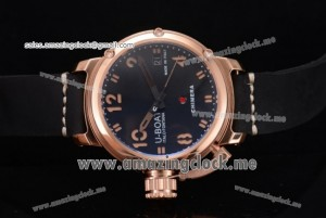 Chimera Automatic RG Black Dial Stick/Arabic Numeral Markers - AST25