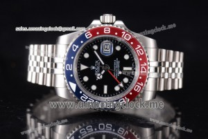GMT-Master II Vintage Full SS Black Dial Stick/Dot Markers - A2836