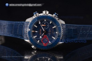 Seamaster Planet Ocean 600 M Co-Axial Chrono SS Blue Dial - Clone Omega 9900 (EF)