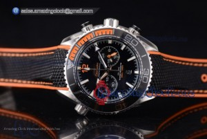 1:1 Seamaster Planet Ocean SS Black Dial - Clone Omega 9300(EF)