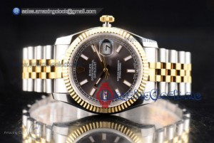 Datejust Full Two Tone Grey Dial - Clone Rolex 3135 (BP)