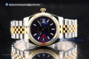 Datejust Full Two Tone Blue Dial - Clone Rolex 3135 (BP)