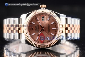 Datejust Full Two Tone Rose Gold Dial - Clone Rolex 3135 (BP)