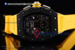 RM 11-03 PVD Skeleton Dial Yellow Rubber - A7750