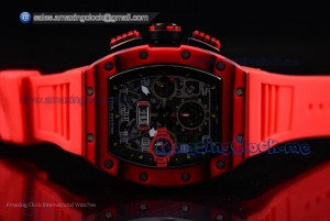 RM 11-03 PVD Skeleton Dial Red Rubber - A7750