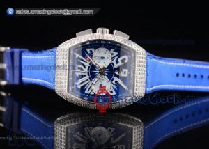 Vanguard SS Blue Dial Blue Leather - A2813