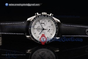 Speedmaster Apollo 13 Silver Snoopy Award Limited Edition SS White Dial Black Leather - Venus 75 (EF)