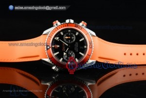 Seamaster Planet Ocean SS Black Dial Orange Rubber - Clone 9300 (EF)