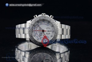 Rolex Yacht-Master II Chronograph Full SS White Dial - Swiss Valjoux 7750(BP)