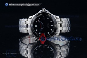 Seamaster Diver 300 M Co-Axial Steel Black Dial - A2824 (BP)