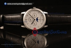 Patrimony Perpetual Calendar SS White Dial Black Leather - Clone Original Automatic (AAAF)
