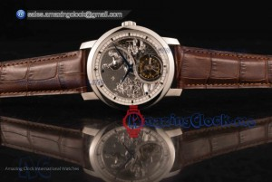 Traditionelle Minute Repeater Tourbillon Brown Leather Steel Gray Dial - Swiss Tourbillon Manual Winding