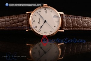 Classique Rose Gold White Dial - 9015 Auto (AAAF)