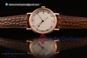 Classique Rose Gold White Dial Brown Leather - 9015 Auto (AAAF)