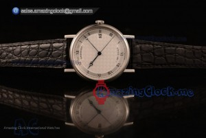 Classique Steel White Dial Black Leather - 9015 Auto (AAAF)