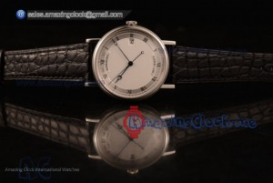 Classique Steel Black Leather White Dial - 9015 Auto (AAAF)