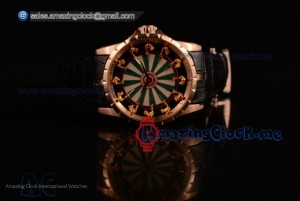 Excalibur Knights of the Round Table II Rose Gold White/Green Dial - Citizen 6T51 Manual Winding (AAAF)