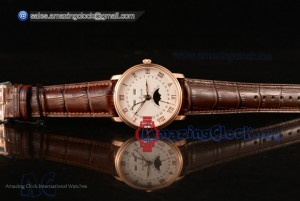 Villeret Rose Gold White Dial - Japanese Miyota 9015 Auto (ZF)