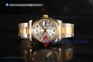 1:1 Datejust Yellow Gold Silver Dial - 3135 Auto (AAAF)