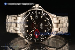Seamaster Diver 300 M Co-Axial Steel Black Dial - 8215 Auto