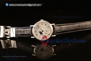 Classique Moonphase Steel White Dial Japanese Miyota 9015 Automatic Movement