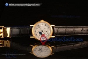 Classique Moonphase Yellow Gold White Dial Japanese Miyota 9015 Automatic Movement