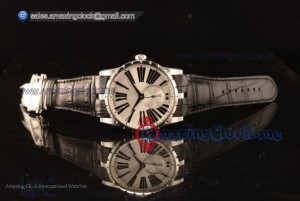 Excalibur Silver Dial  - Clone Roger Dubuis RD830 Automatic