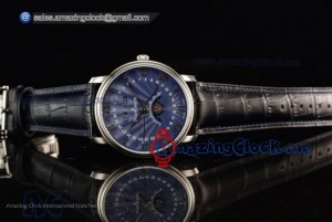 Villeret Moonphase & Complete Calendar Blue Dial - Miyota 9015 Automatic