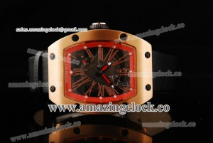 RM023 RG Skeleton Dial on Leather Strap - A2813