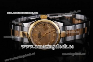 Datejust 26MM Lady 179163 chcao TT Gold Dial on Two Tone Bracelet - A2813