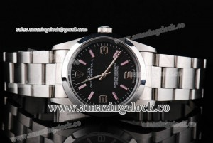Oyster Perpetual No-Date 177400 SS Black Dial on Steel Bracelet - A2813