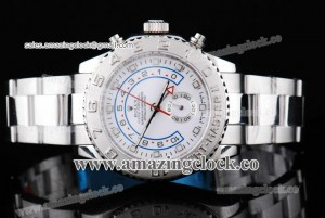 Yacht-Master II 116689 SS White Dial on Bracelet A2813
