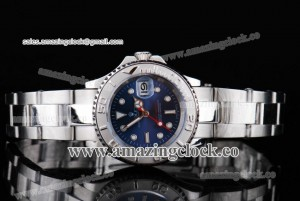 Yacht-Master Ladies 168421BLSO SS Blue Dial on Steel Bracelet A2813