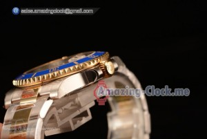 Top Quality Submariner Two Tone Case Blue Dial Diamond Markers Two Tone Bracelet 116613BL